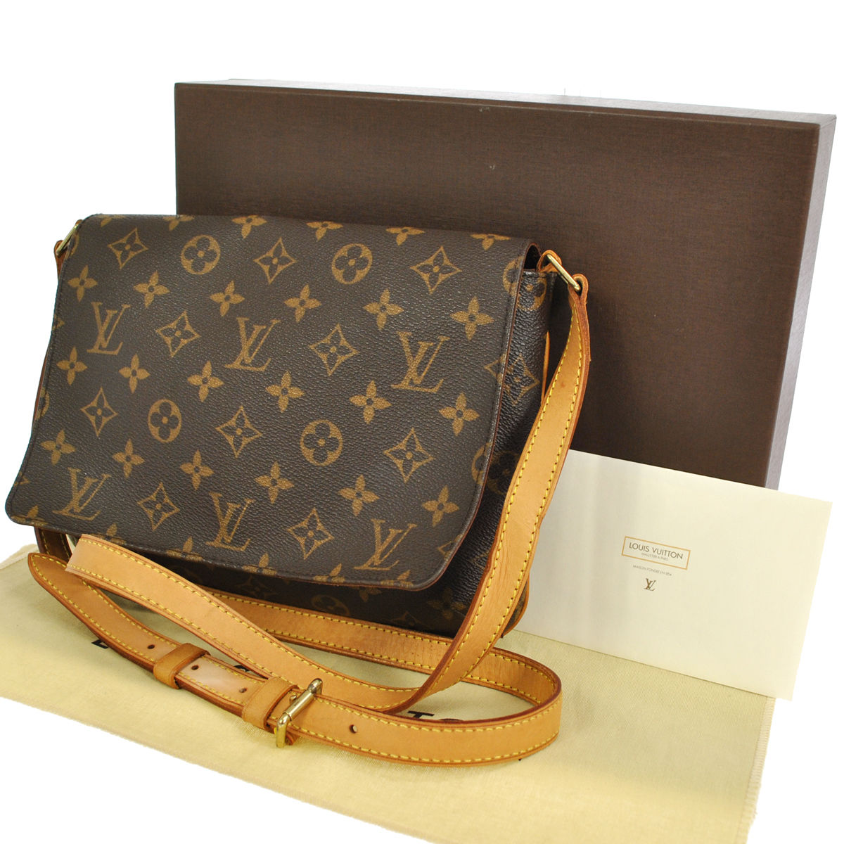 authentic louis vuitton musette tango long strap cross body bag my frugal fashionista. Black Bedroom Furniture Sets. Home Design Ideas